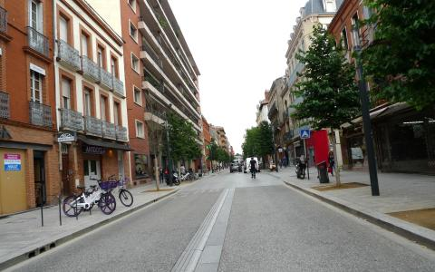 Rue Bayard à Toulouse - Requalification terminée