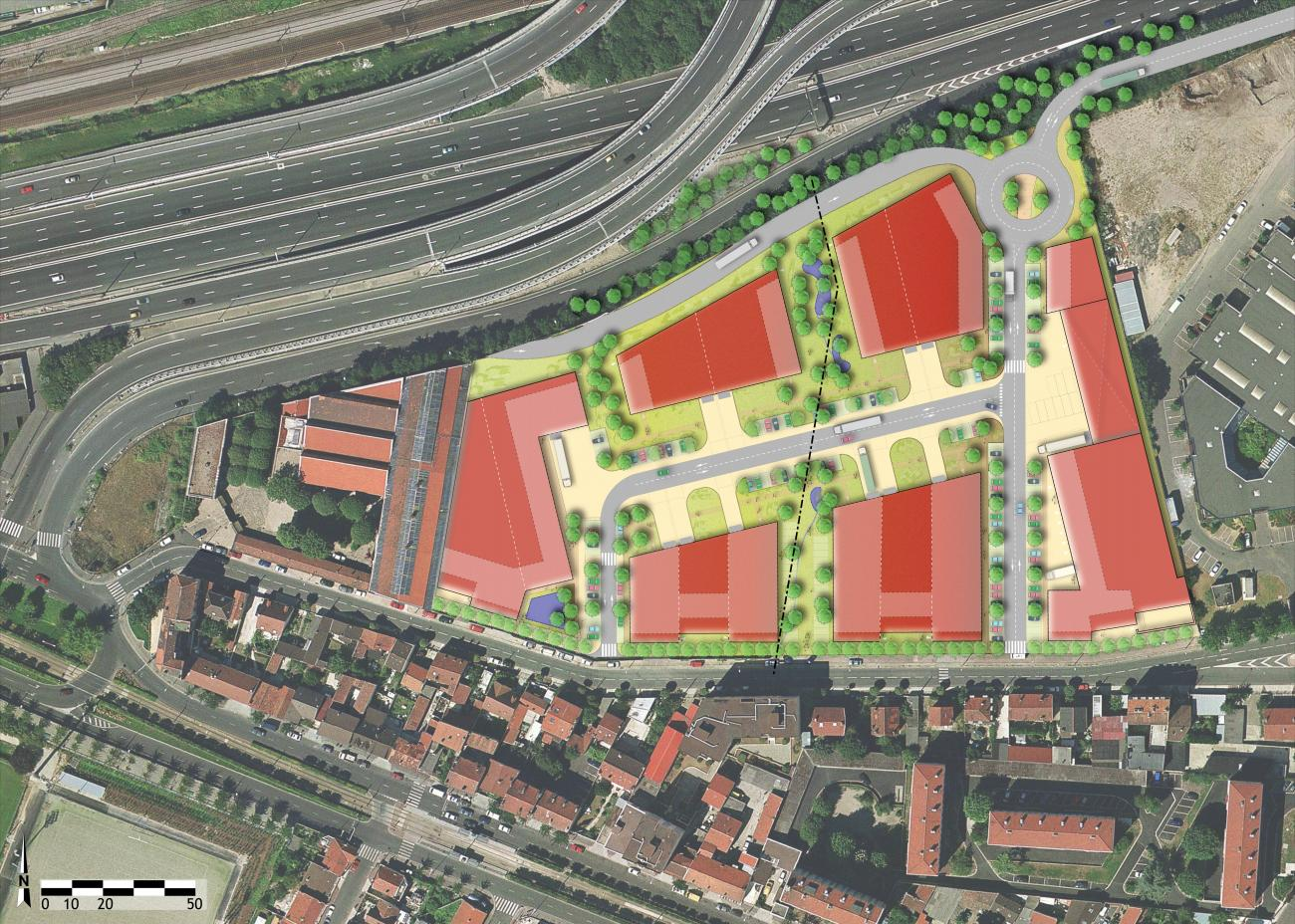 Plan-masse en Phase 2. ©Seura