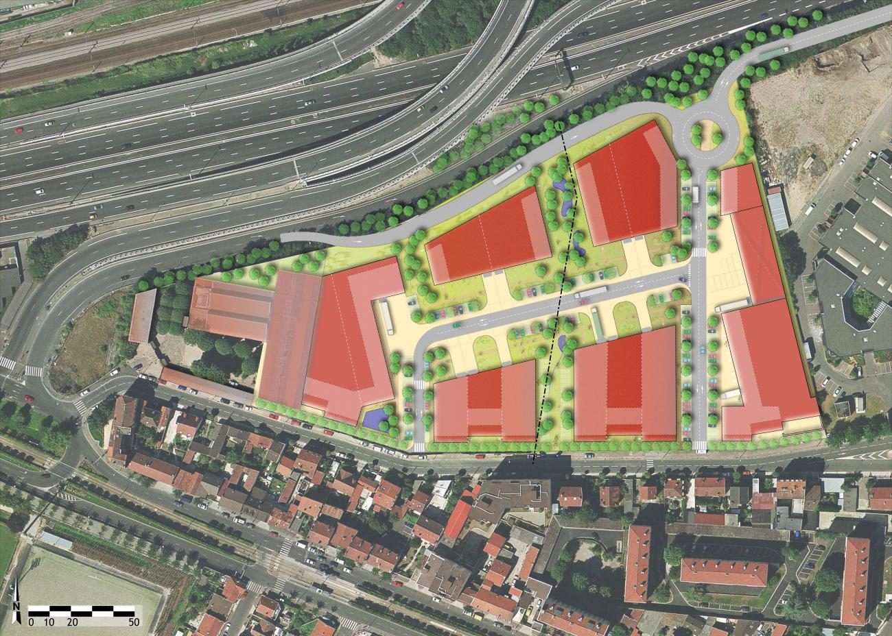Plan-masse en Phase 3. ©Seura